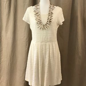 Ivory Eyelet Dress Barn Dress 12
